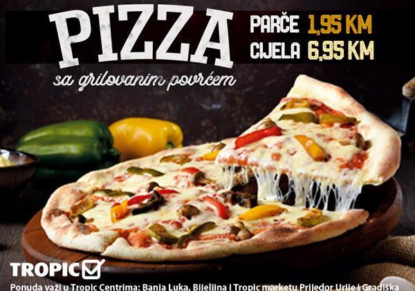 Pizza sa grilovanim povrćem